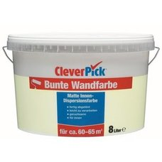 CleverPick Bunte Wandfarbe - limette - 8 Liter