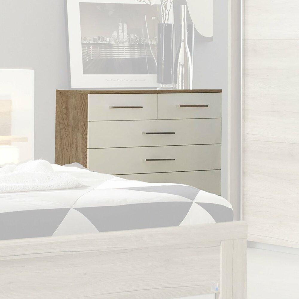 kommode k ln san remo eiche wei 100 cm breitangebot. Black Bedroom Furniture Sets. Home Design Ideas