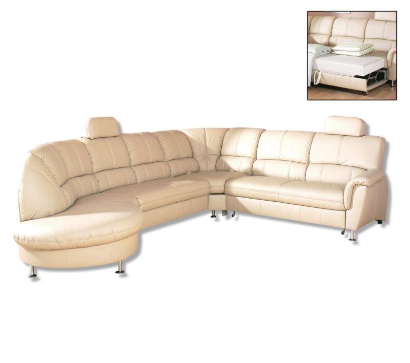 ledersofa natur mit liegefunktion wohnlandschaften u. Black Bedroom Furniture Sets. Home Design Ideas