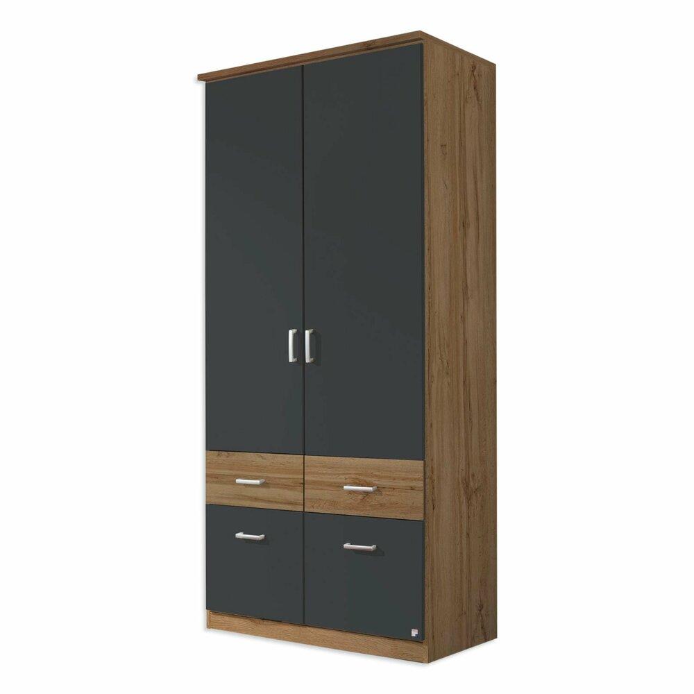 dreht renschrank bremen extra wotan eiche grau metallic. Black Bedroom Furniture Sets. Home Design Ideas