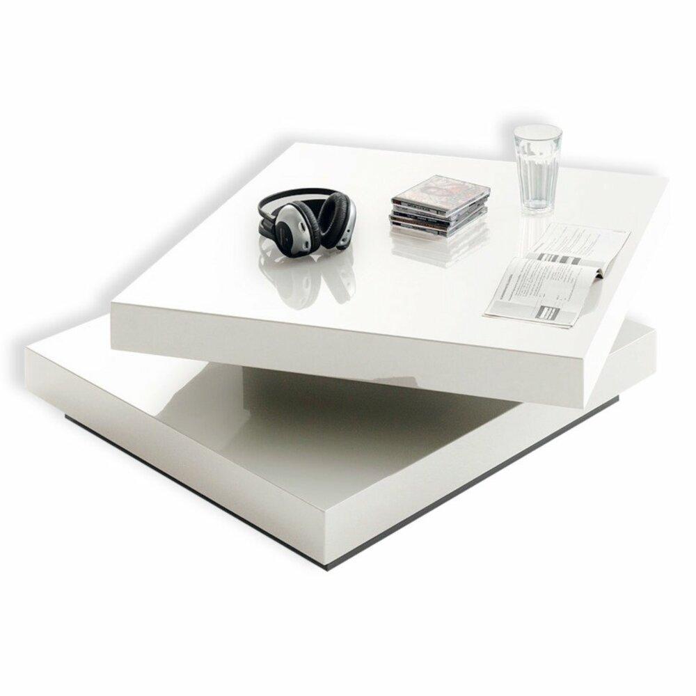 couchtisch icaro wei hochglanz drehbare platte couchtische tische m bel m belhaus. Black Bedroom Furniture Sets. Home Design Ideas
