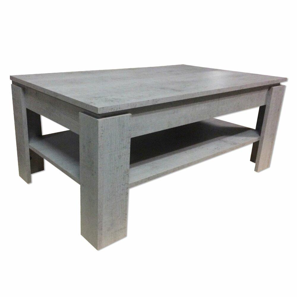couchtisch universal wei grau beton optik couchtische wohnzimmer wohnbereiche. Black Bedroom Furniture Sets. Home Design Ideas