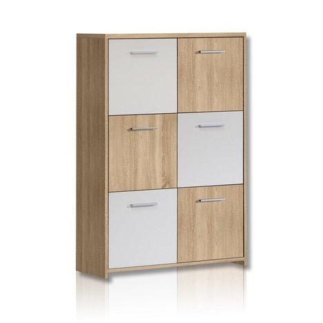 kommode quadro sonoma eiche wei angebot bei roller. Black Bedroom Furniture Sets. Home Design Ideas