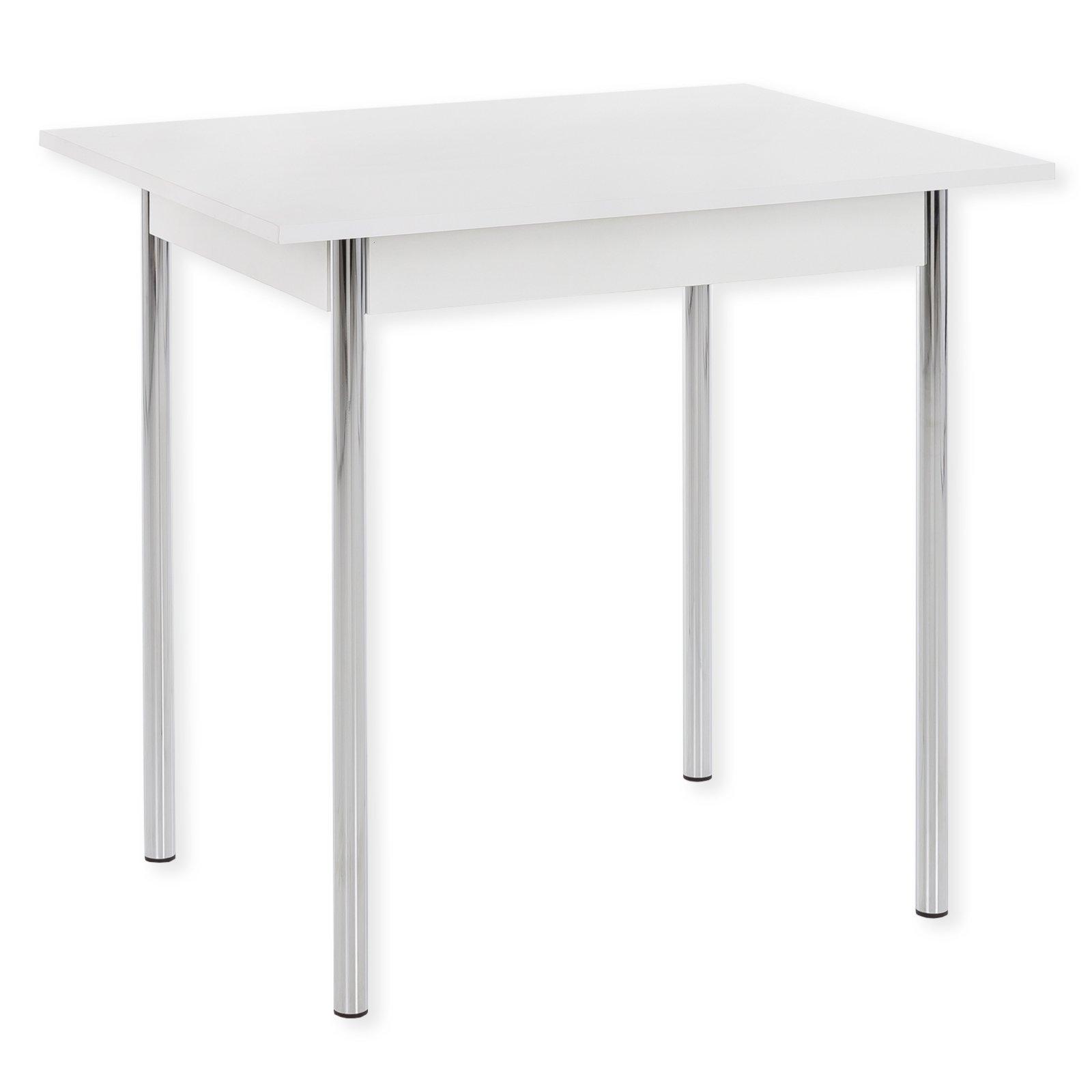 Küchentisch KÖLN 1 - weiß - Metall - 90x76 cm | Esstische | Sitzen ...