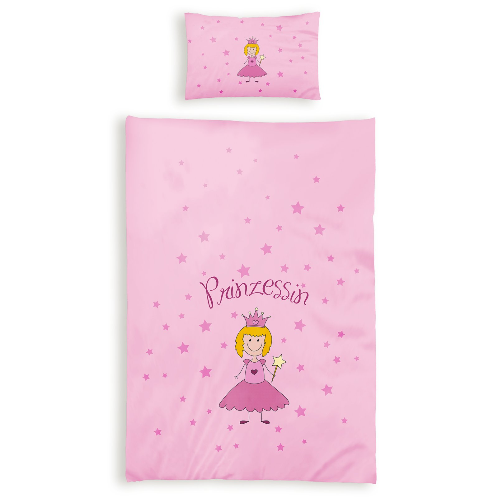 Renforcé Baby Bettwäsche Optidream Kids Prinzessin 100x135 Cm