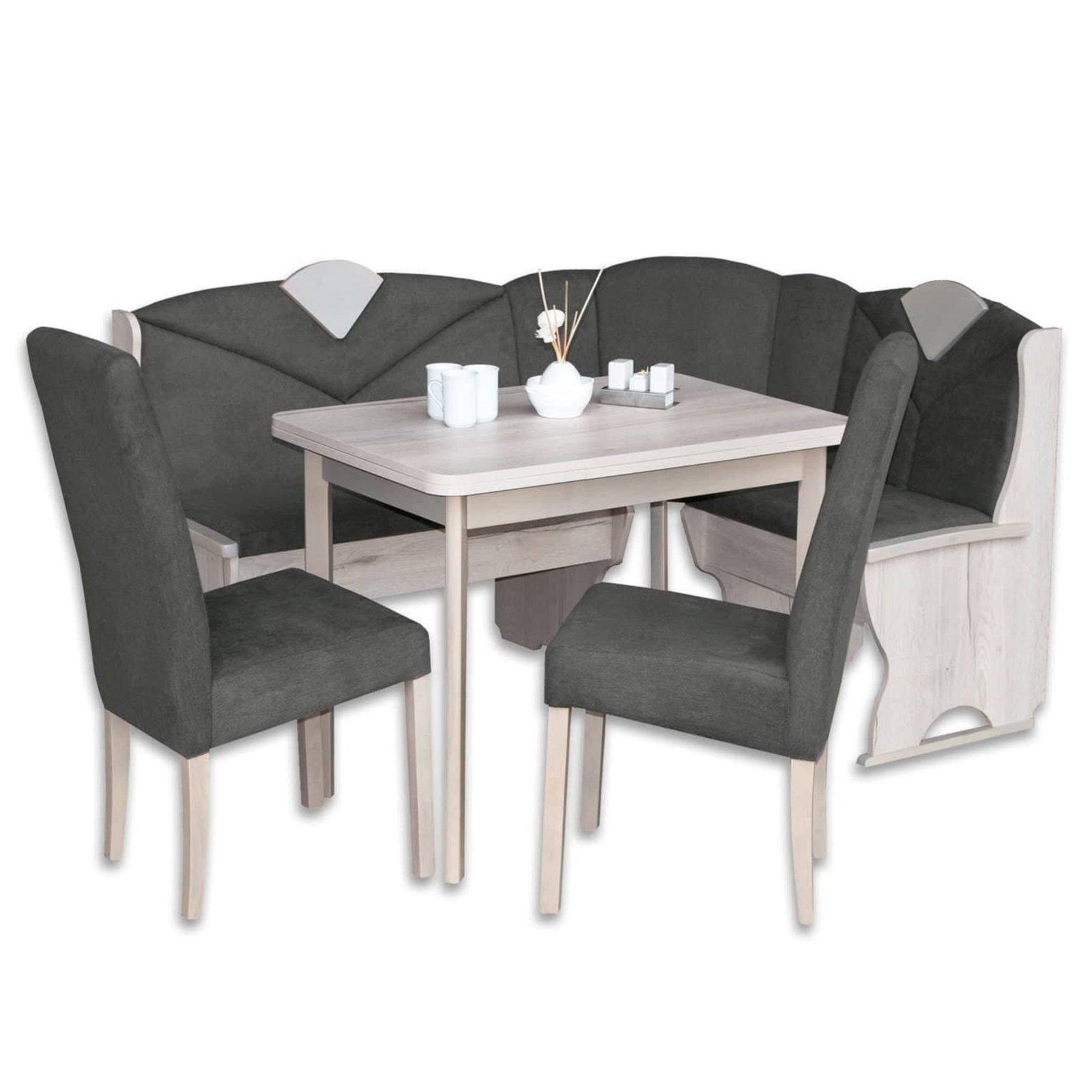 4 teilige eckbankgruppe sandeiche 160x120 cm. Black Bedroom Furniture Sets. Home Design Ideas