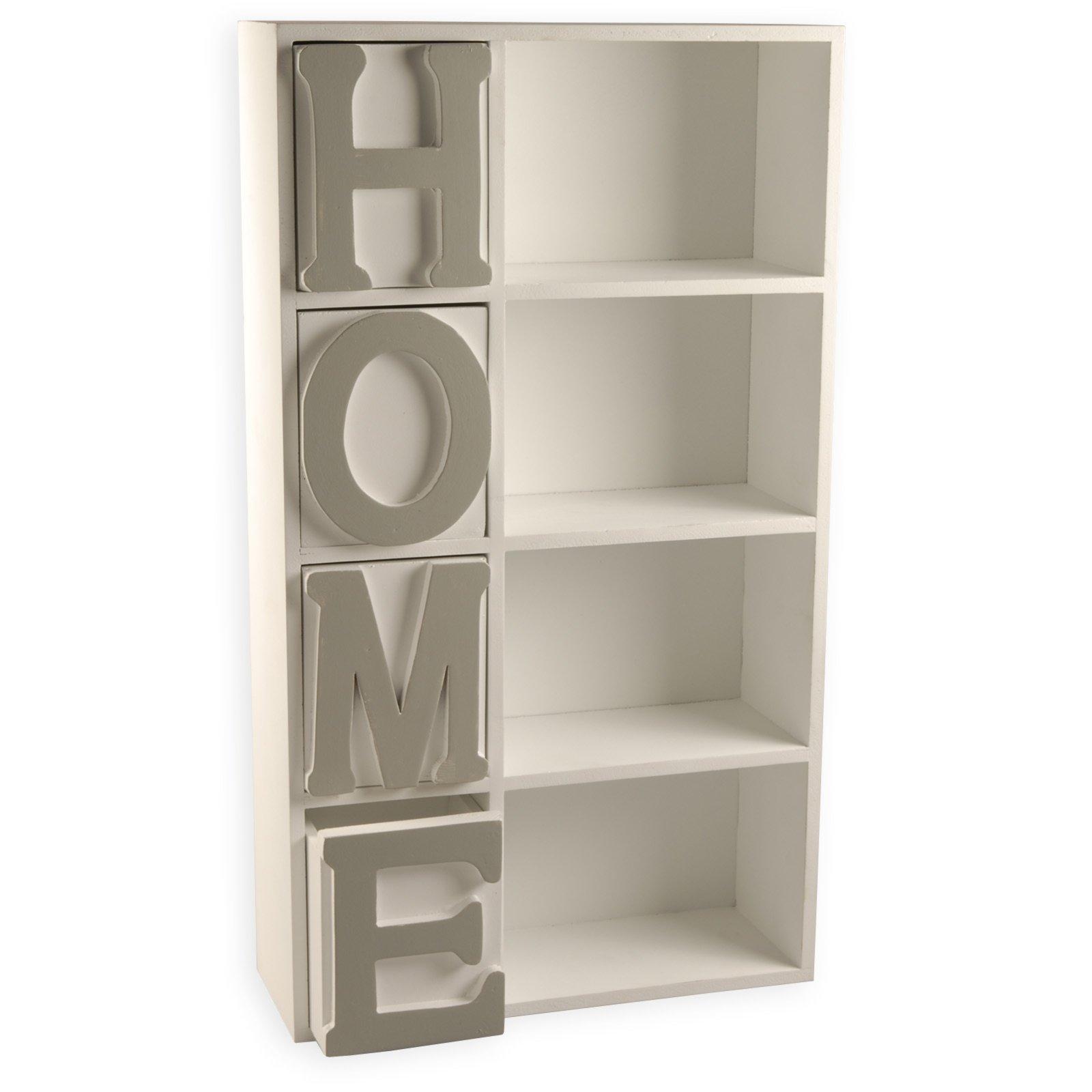 wandregal home wei grau 30x53 cm wandregale. Black Bedroom Furniture Sets. Home Design Ideas