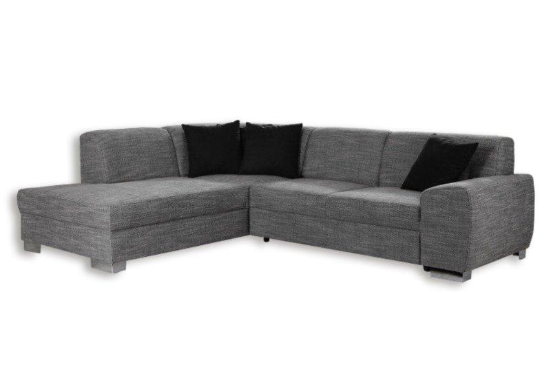 polsterecke silber federkern ottomane links ecksofas l form sofas couches m bel. Black Bedroom Furniture Sets. Home Design Ideas