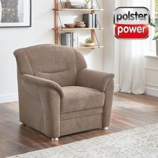 polsterpower Sessel - braun