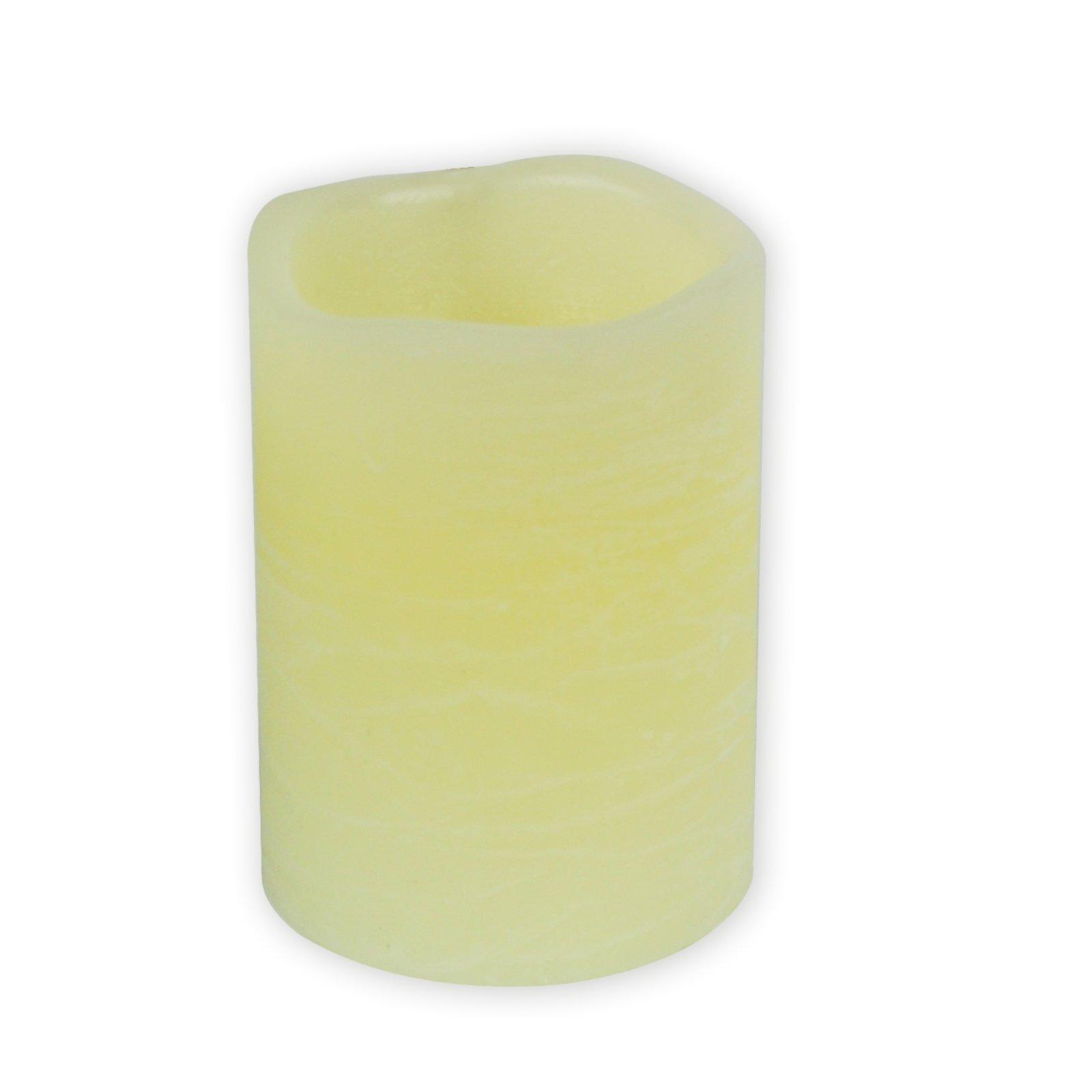 LED-Kerze - creme - mit Flackereffekt - 10 cm