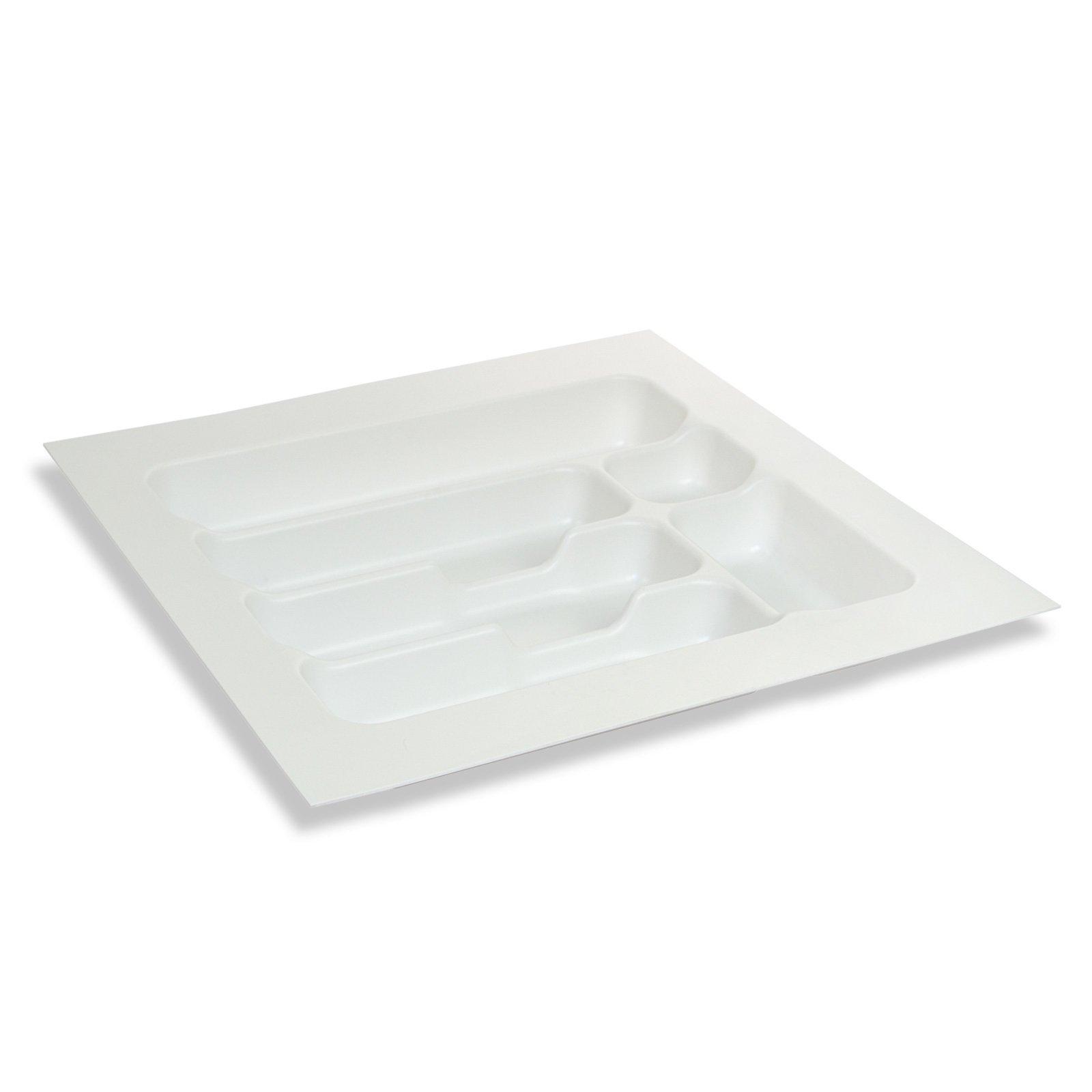 Besteckeinsatz - weiß - Kunststoff - 6 Fächer