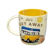 Kaffeebecher VW Bulli - Lets get away - Keramik -  330 ml