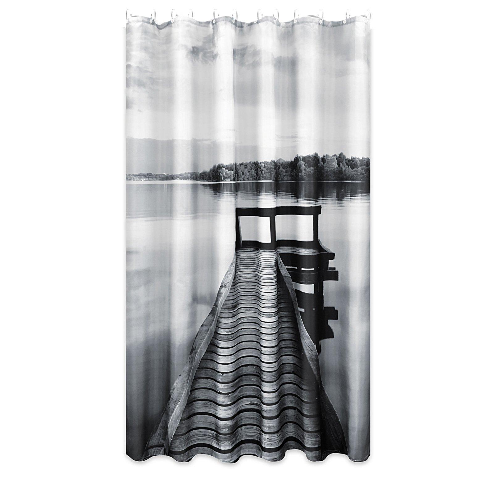 duschvorhang silence schwarz wei 60x60 cm online. Black Bedroom Furniture Sets. Home Design Ideas