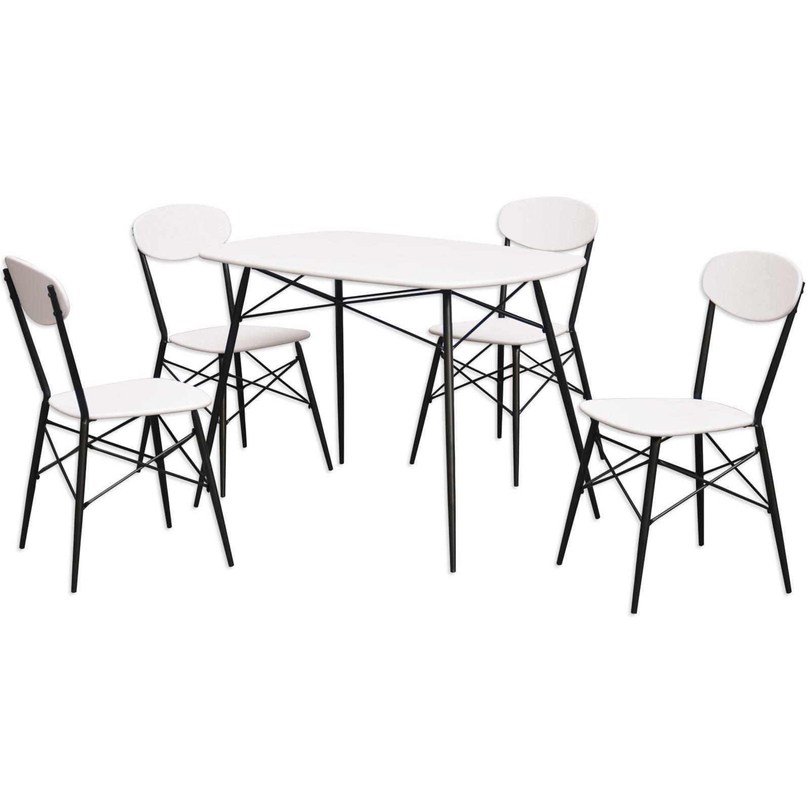 esstischgruppe bella schwarz wei tisch 4 st hle
