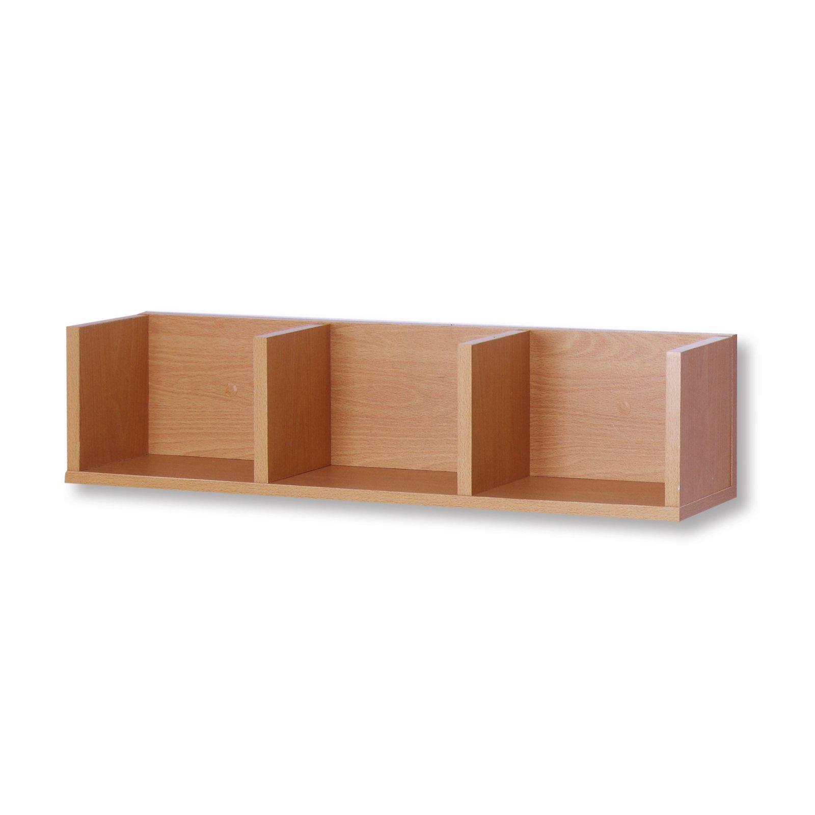 roller wandregal buche 3 f cher 69 cm ebay. Black Bedroom Furniture Sets. Home Design Ideas