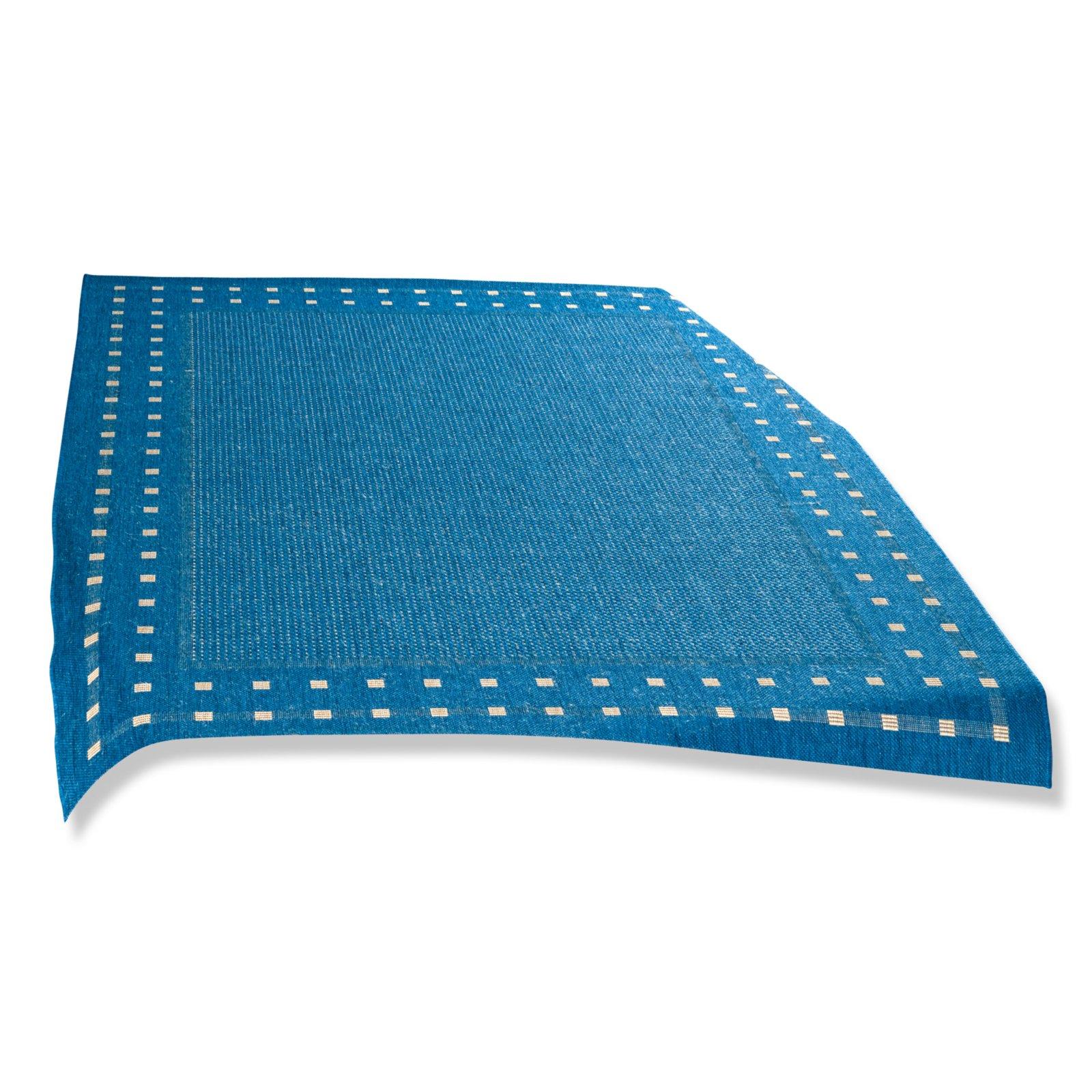 teppich olso blau 120x170 cm gemusterte teppiche. Black Bedroom Furniture Sets. Home Design Ideas