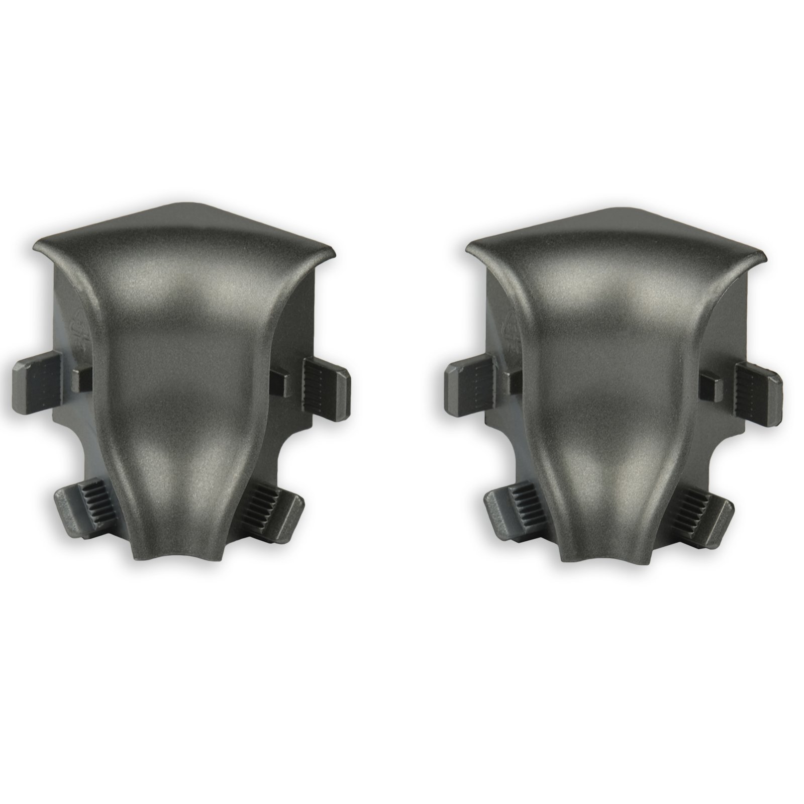 2er-Set Innenecken - Silber dunkel - für Sockelleiste K40