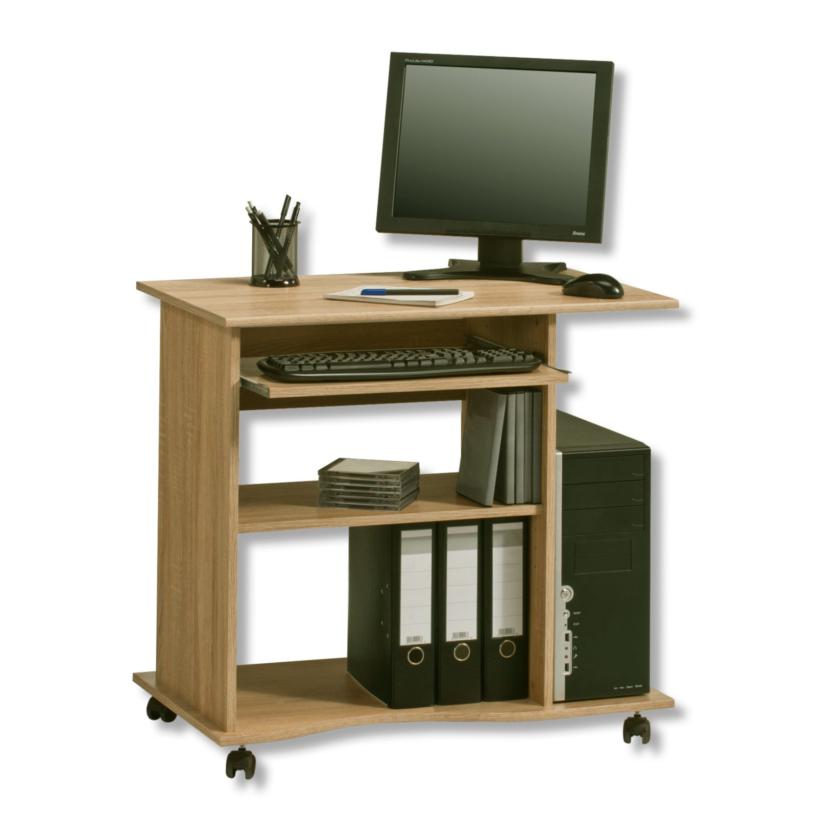 computertisch sonoma eiche 80 cm schreibtische. Black Bedroom Furniture Sets. Home Design Ideas