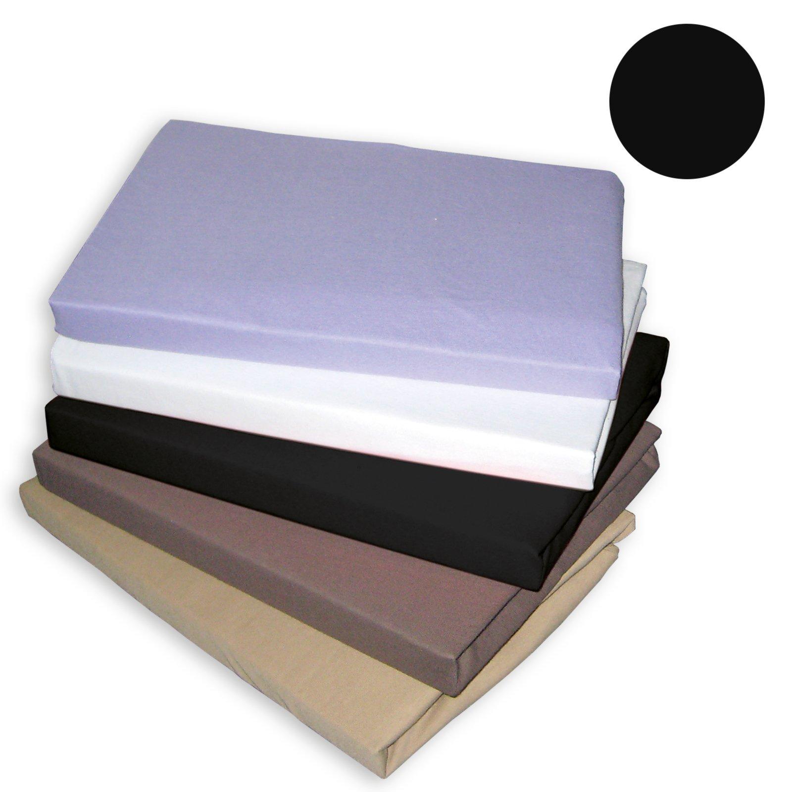 Topper-Spannbettlaken TRAUMHAFT GUT - schwarz - 150x200 cm