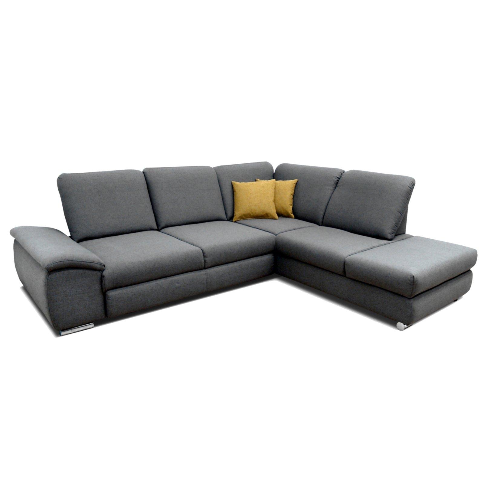 polsterecke grau braun sitztiefenverstellung links ecksofas l form sofas couches. Black Bedroom Furniture Sets. Home Design Ideas