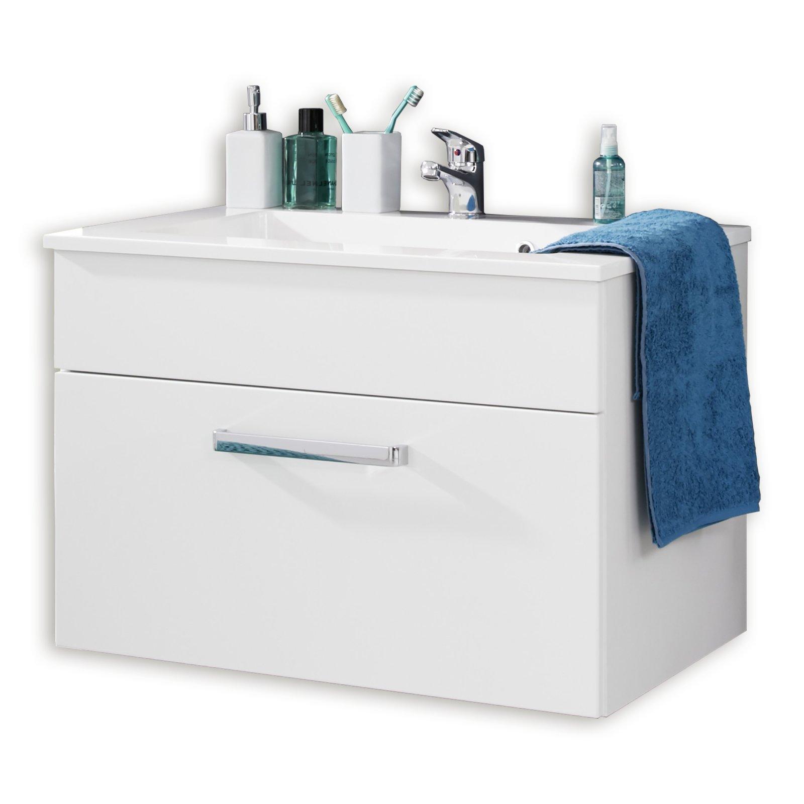 waschbeckenunterschrank adamo wei hochlglanz 81 cm badprogramm adamo badprogramme. Black Bedroom Furniture Sets. Home Design Ideas