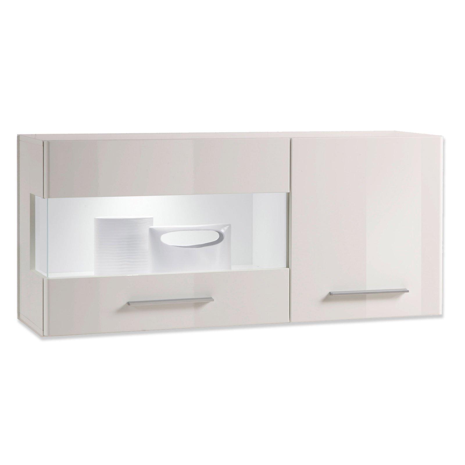 h ngevitrine shine wei hochglanz vitrinen m bel. Black Bedroom Furniture Sets. Home Design Ideas