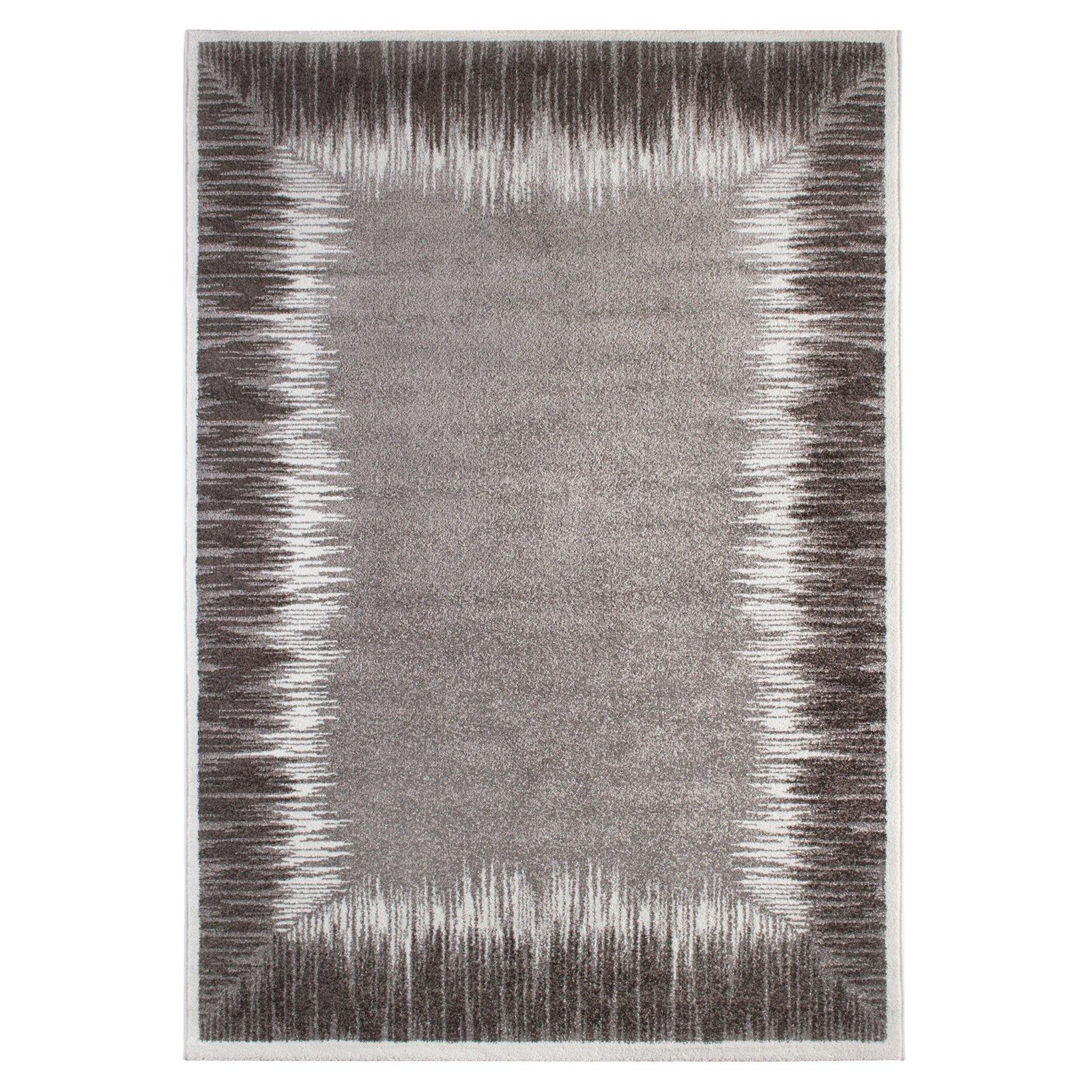 teppich grau 160x230 cm gemusterte teppiche. Black Bedroom Furniture Sets. Home Design Ideas