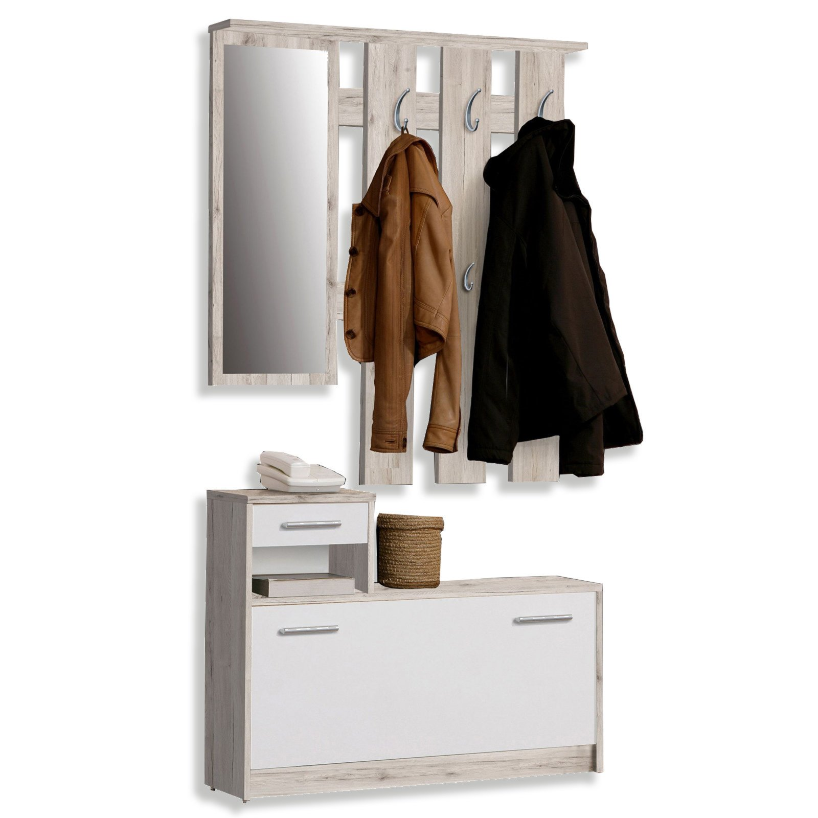 Garderobe foxi sandeiche 98 cm breite garderoben for Breite garderobe