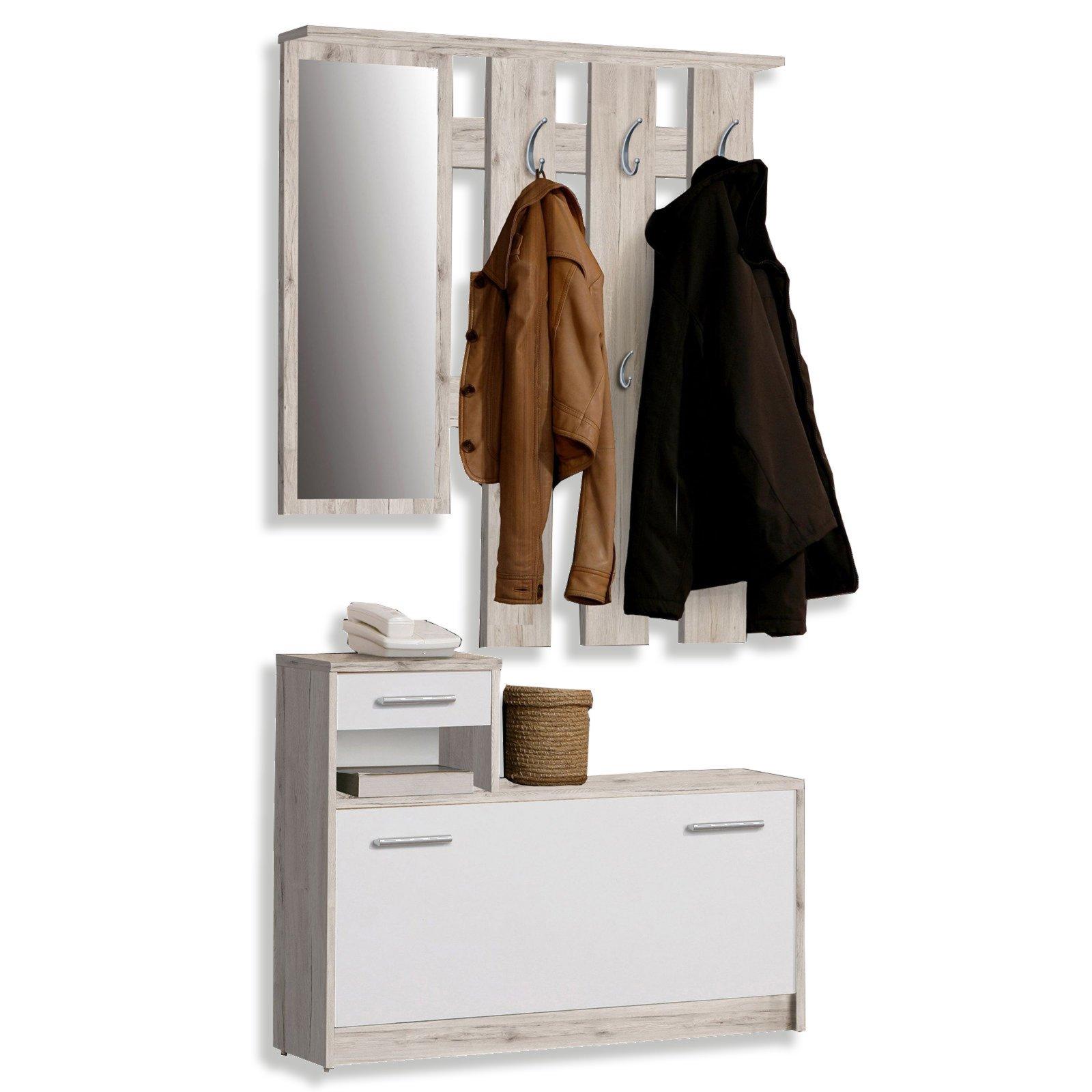 roller garderobe foxi sandeiche 98 cm breite ebay. Black Bedroom Furniture Sets. Home Design Ideas