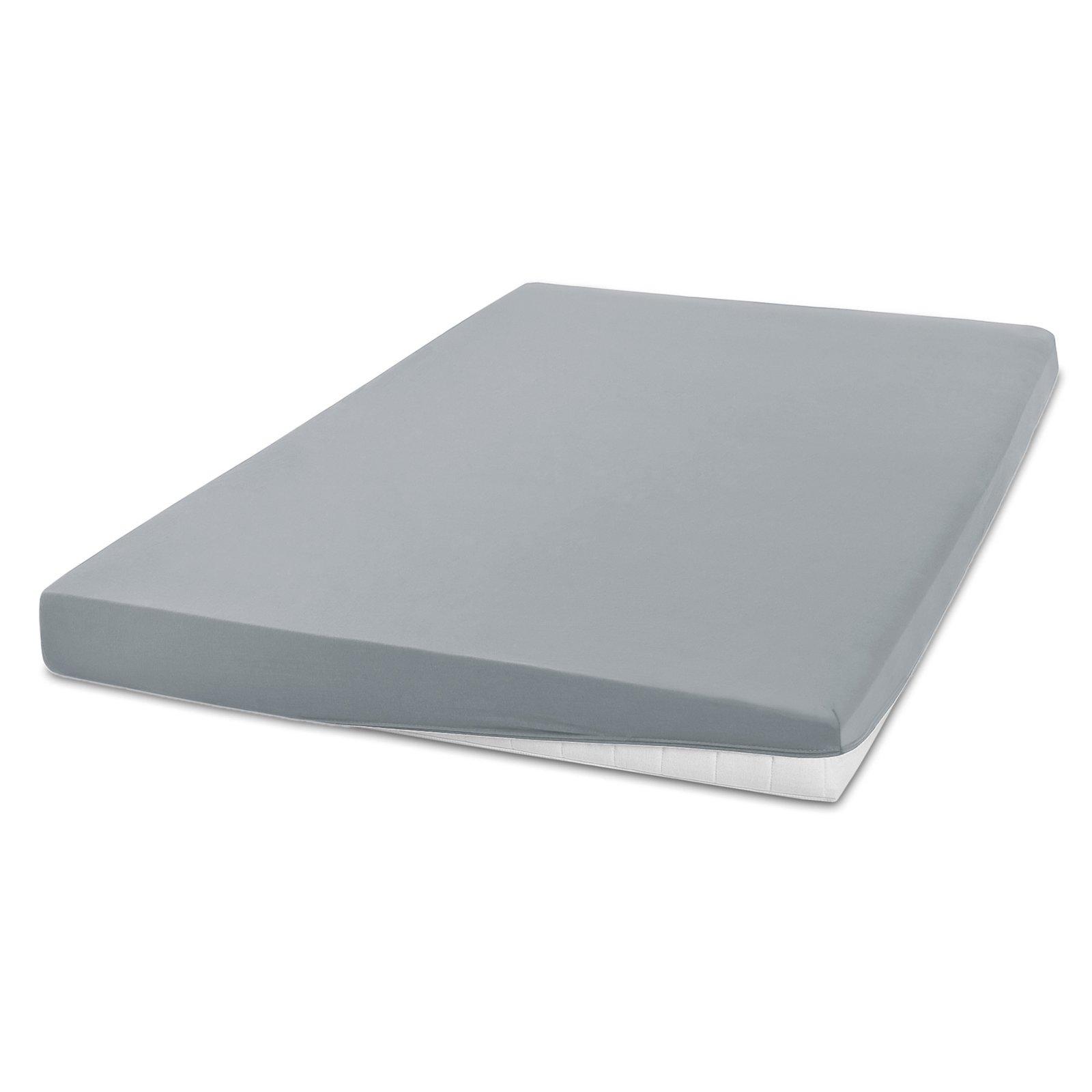 Elastic-Jersey-Spannbettlaken EXCLUSIV - silber - 90x200 cm