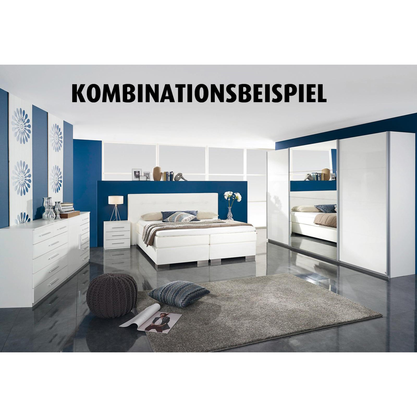 roller kommode imposa wei hochglanz 6 schubk sten ebay. Black Bedroom Furniture Sets. Home Design Ideas