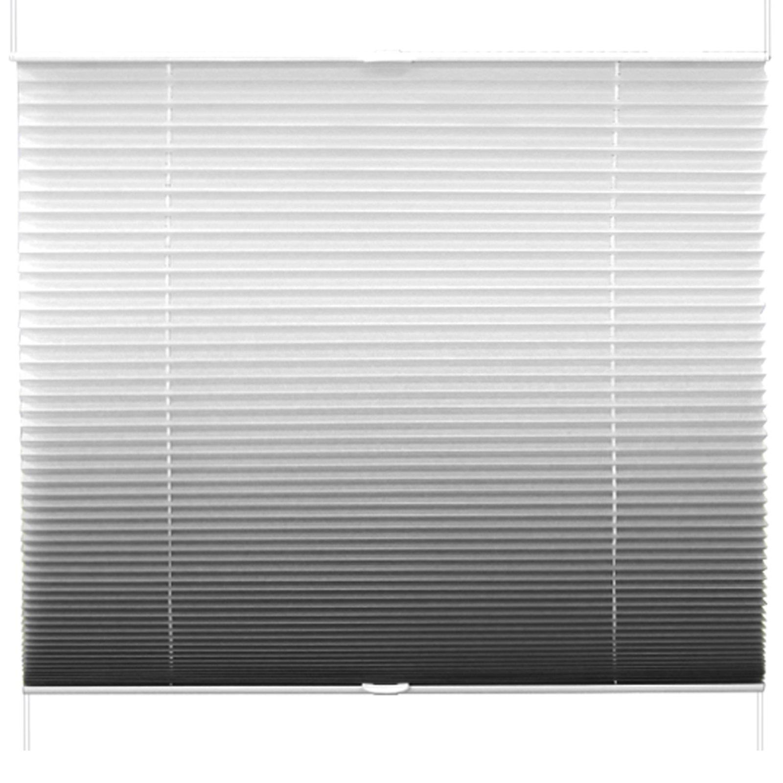 plissee anthrazit farbverlauf 105x130 cm plissees rollos jalousien deko haushalt. Black Bedroom Furniture Sets. Home Design Ideas