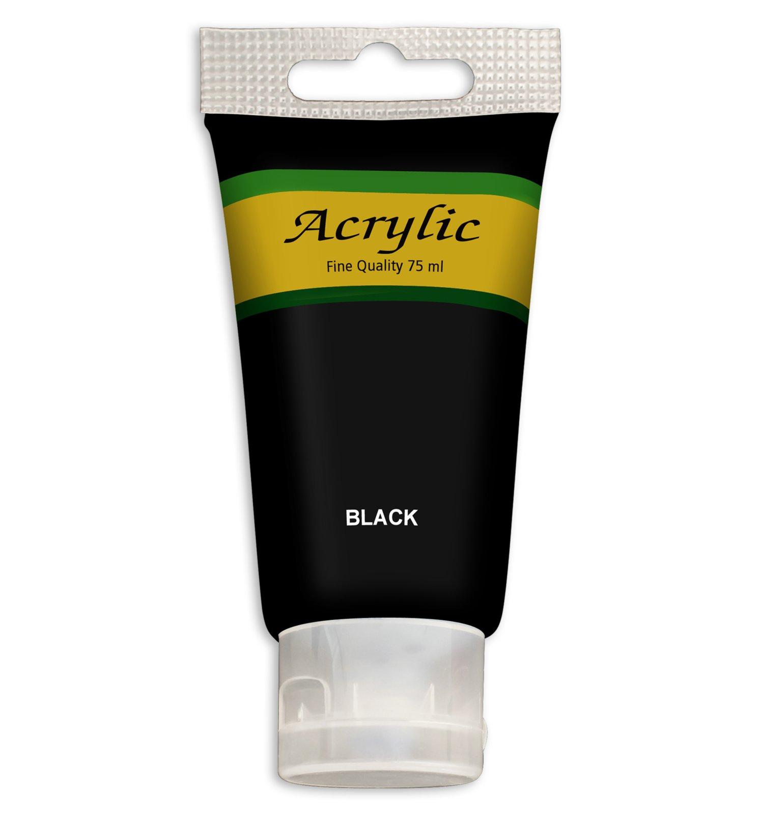 Acrylfarbe - schwarz - 75 ml