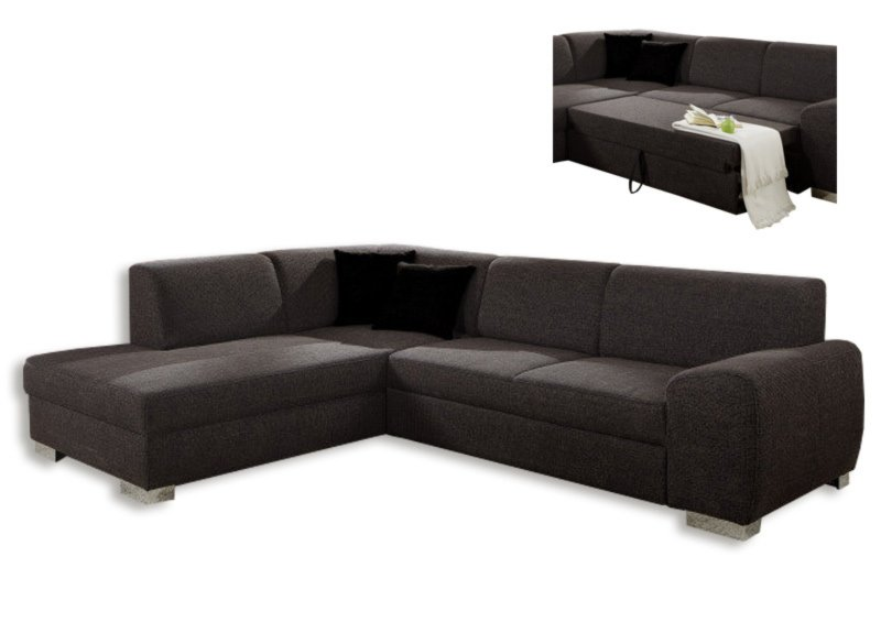 polsterecke dunkelbraun federkern liegefuntion rechts ecksofas l form sofas couches. Black Bedroom Furniture Sets. Home Design Ideas