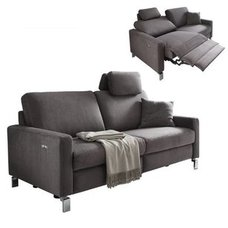 3-Sitzer Sofa - anthrazit - Relaxfunktion