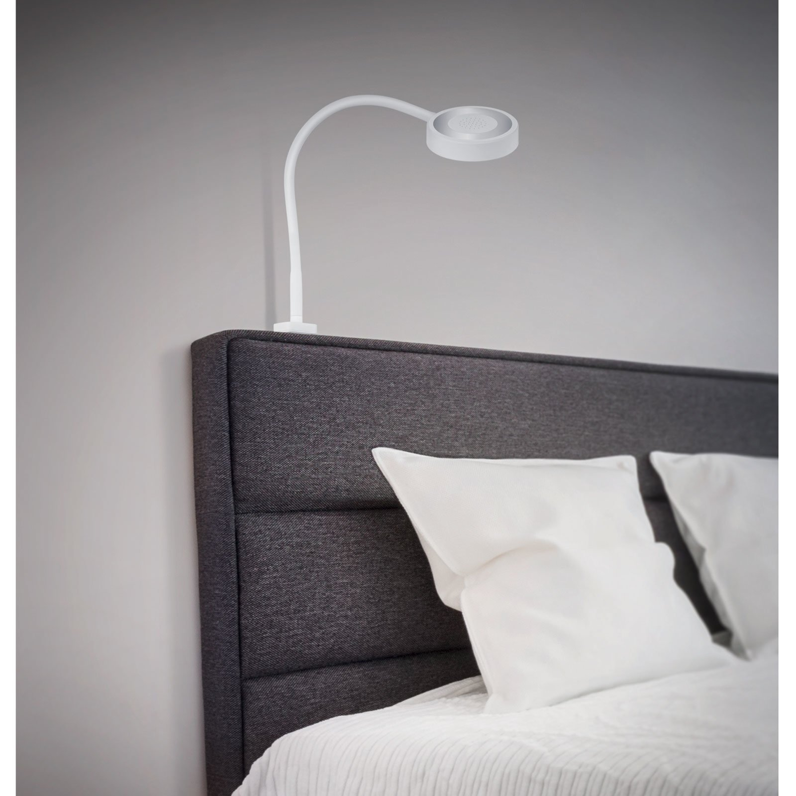 LAMPURA 2er-Set LED-Bettbeleuchtung BRITTA - weiß - mit Flexarm ...