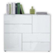 kommode wei hochglanz 120 cm breit kommode sienna wei. Black Bedroom Furniture Sets. Home Design Ideas