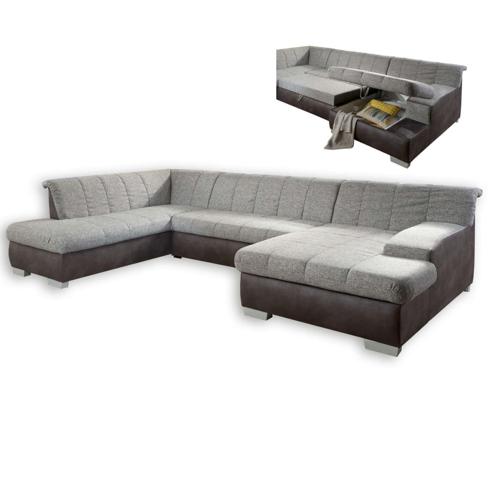 wohnlandschaft grau anthrazit mit funktionen. Black Bedroom Furniture Sets. Home Design Ideas