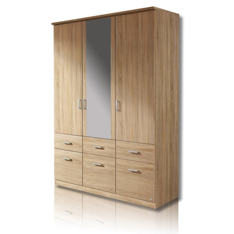 dreht renschrank bremen sonoma eiche 136 cm breit dreht renschr nke kleiderschr nke. Black Bedroom Furniture Sets. Home Design Ideas