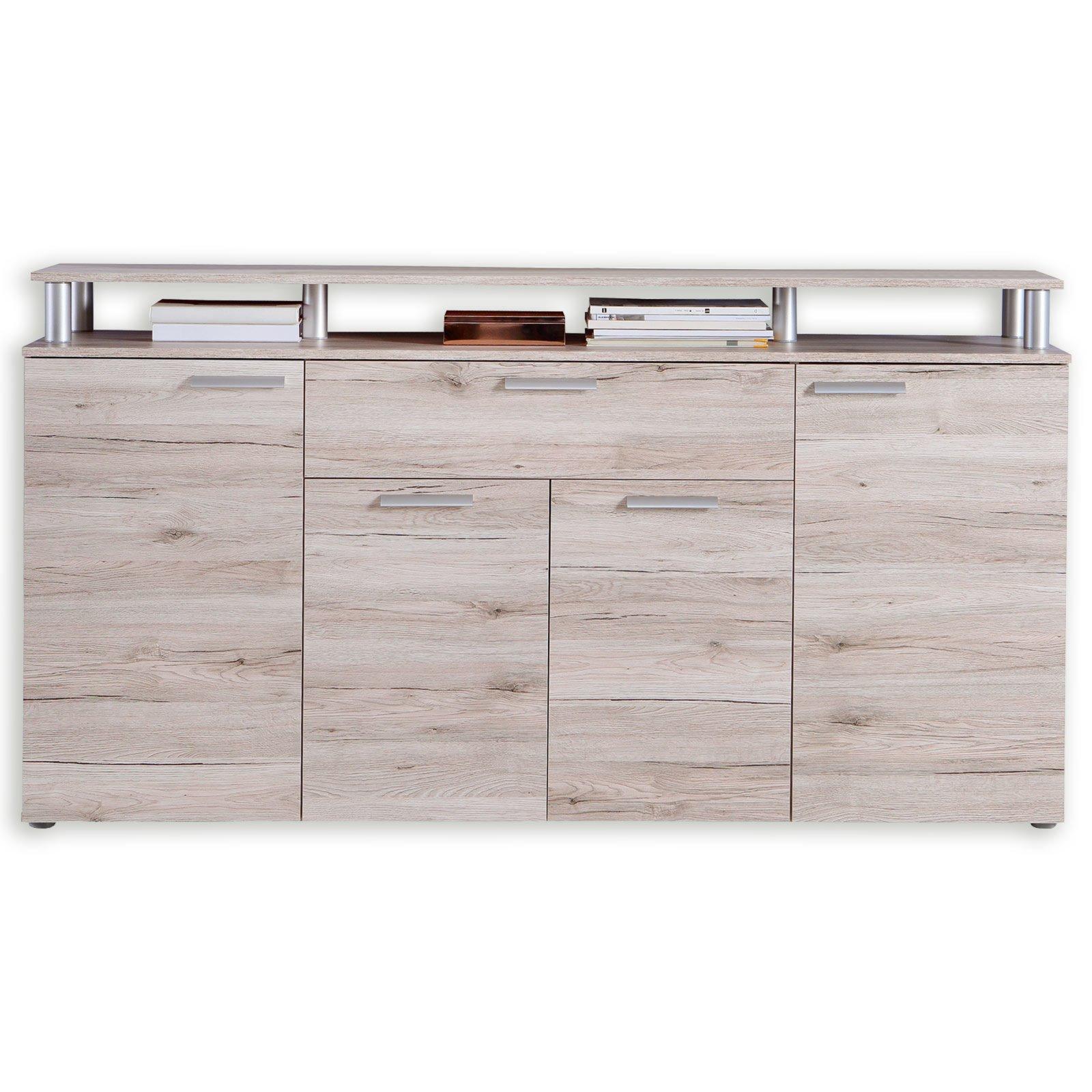 Sideboard pablo sandeiche 169 3 cm breit kommoden for Sideboard 90 cm breit