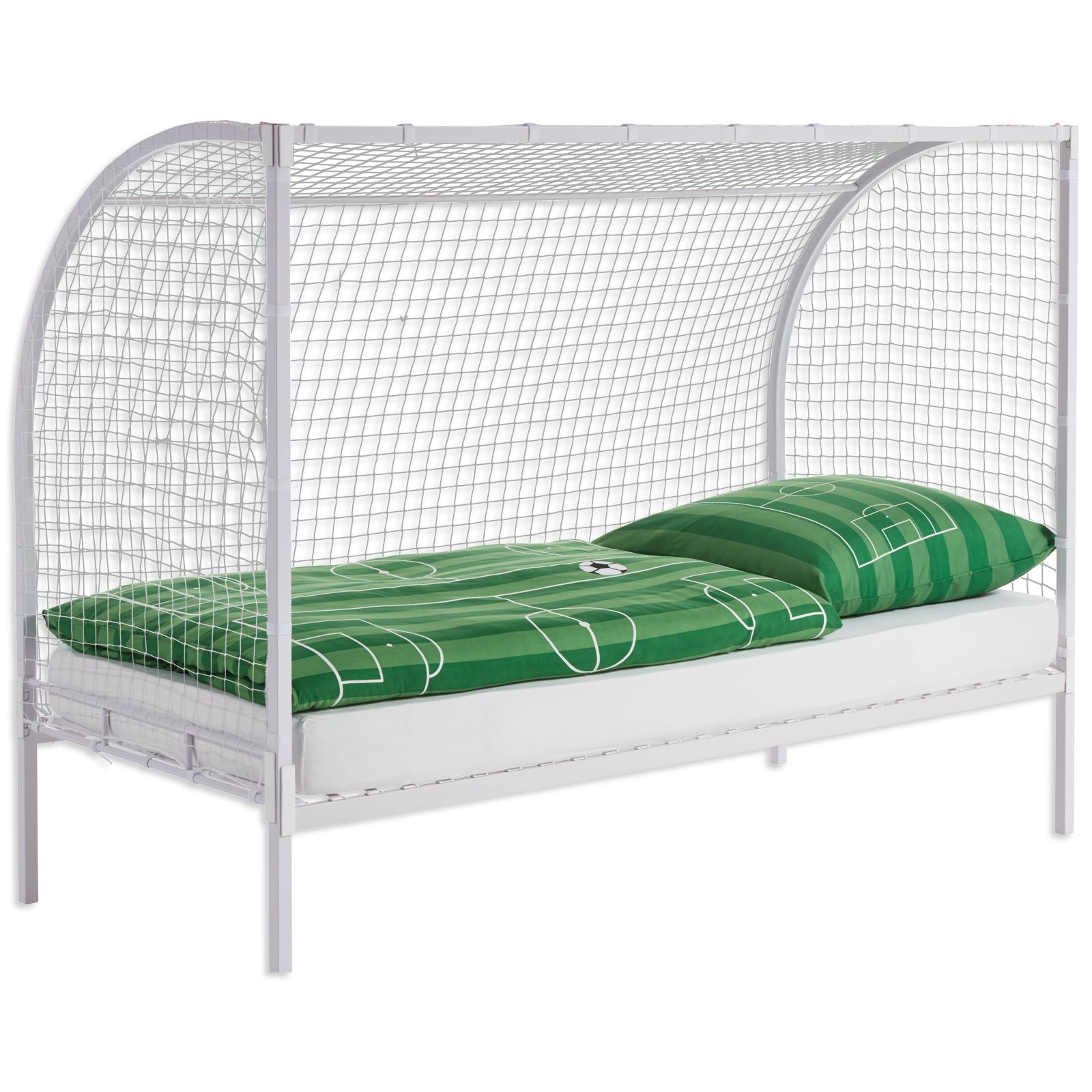 Kinderbett Weiss Tor Design 90x200 Cm
