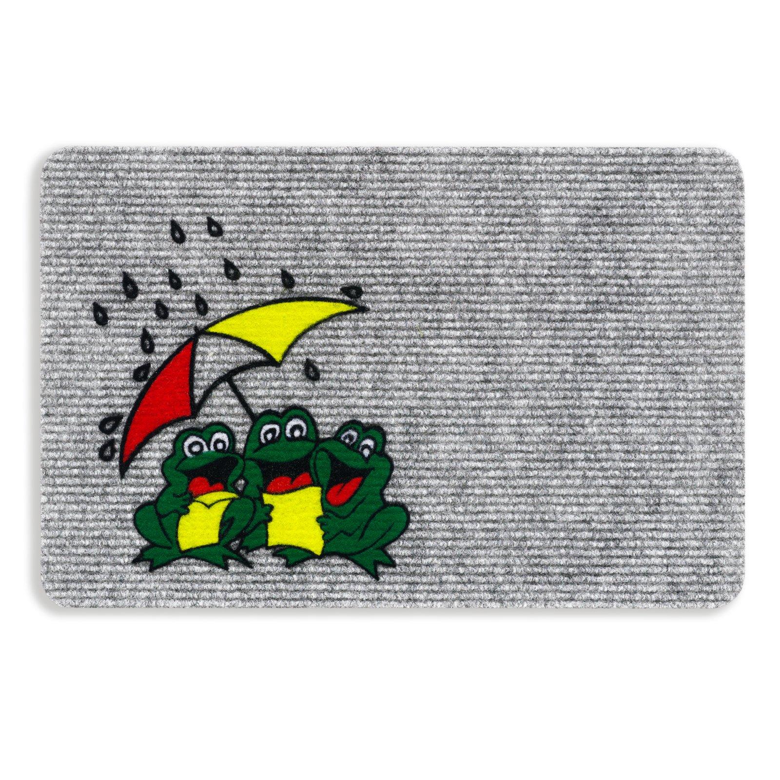 Fußmatte FROGS - grau - 40x60 cm