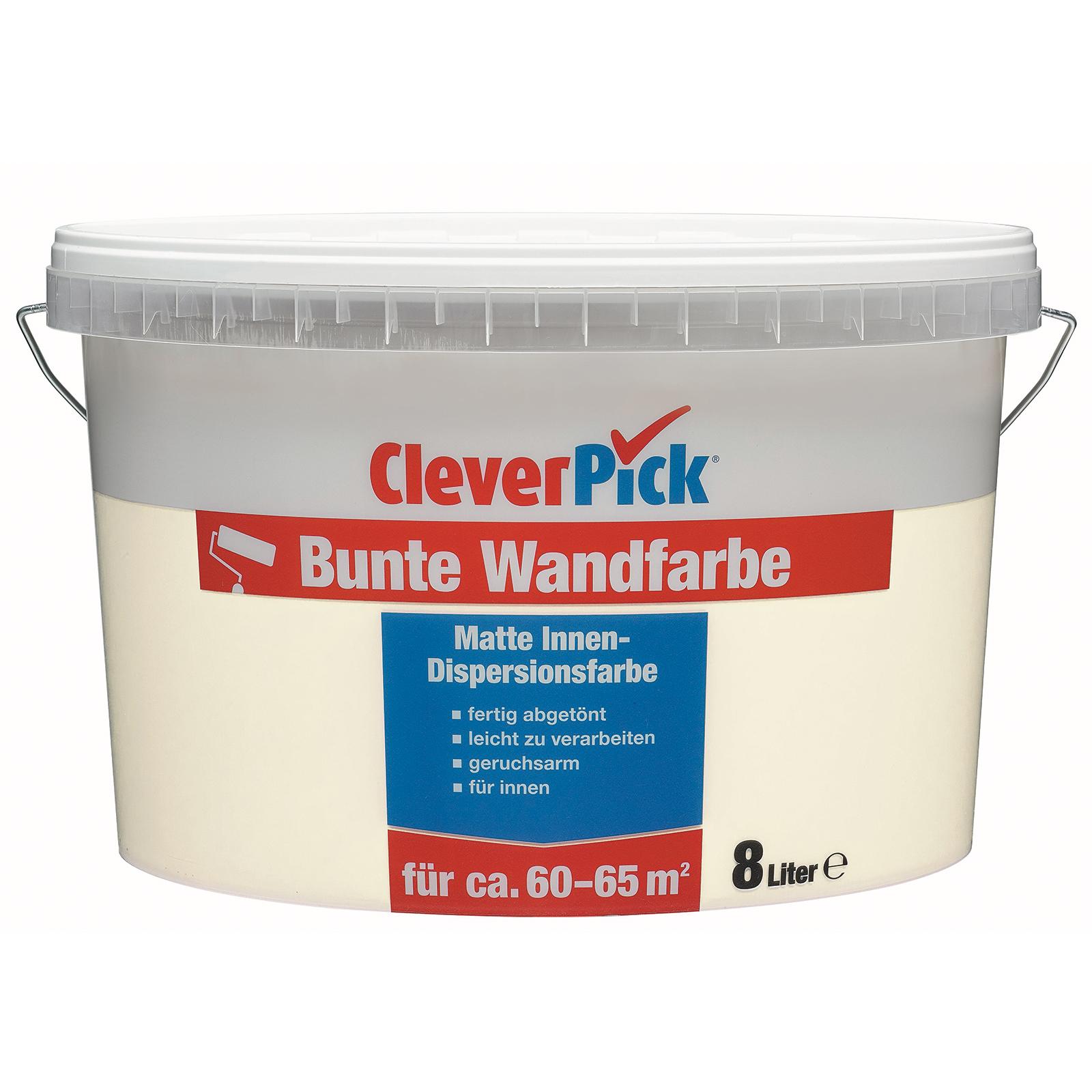 CleverPick Bunte Wandfarbe - Vanille - 8 Liter