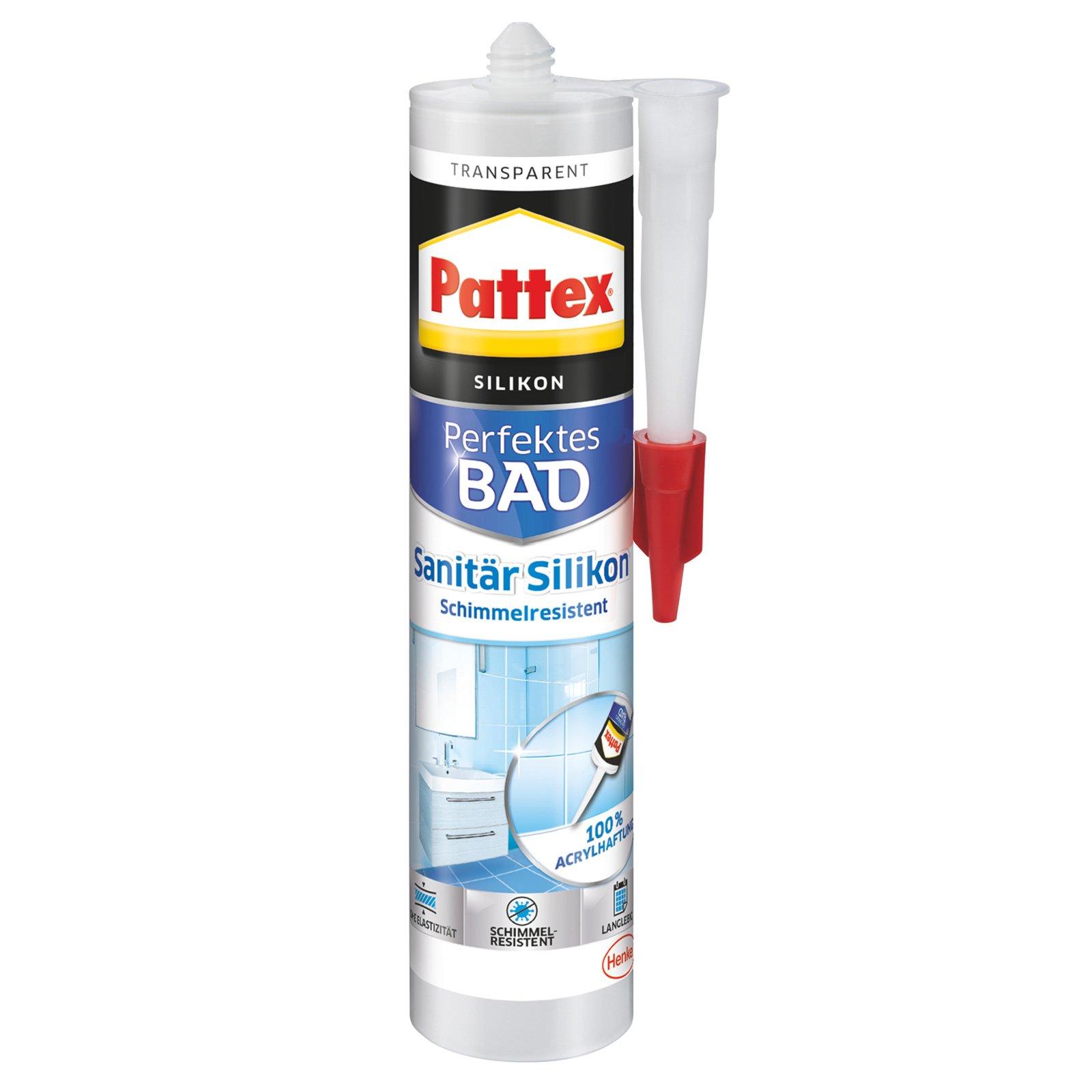 Pattex Sanitär Silikon - transparent - 310 g