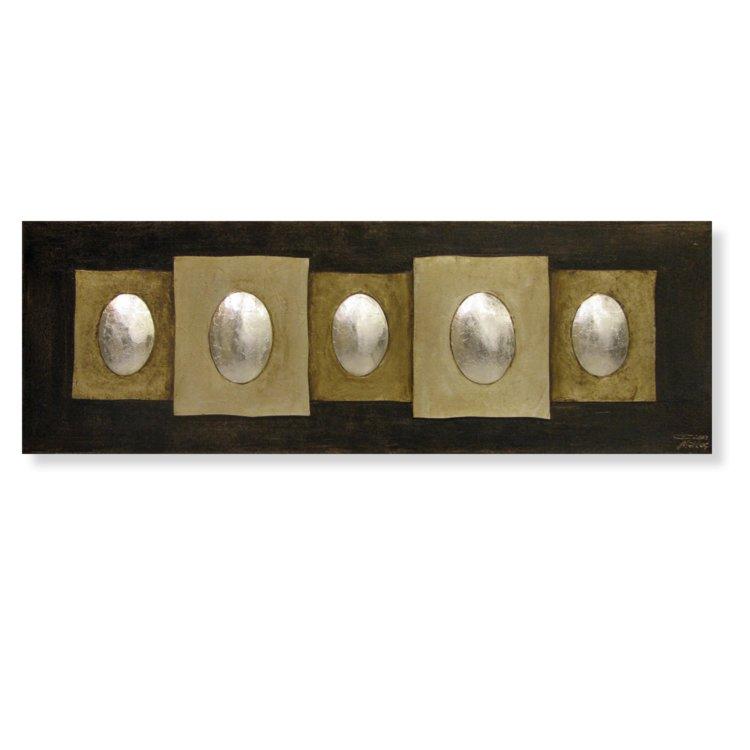 bilder wohnzimmer abstrakt:Öl-Gemälde – abstrakt – 50×150 cm