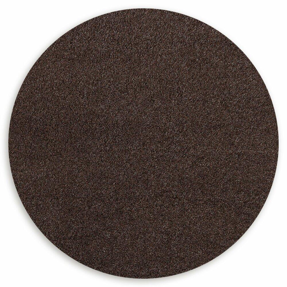 hochflor teppich shaggy braun rund 200 cm hochflor shaggyteppiche teppiche l ufer. Black Bedroom Furniture Sets. Home Design Ideas