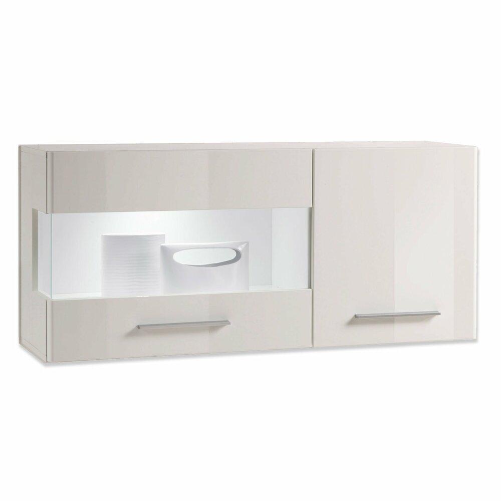 h ngevitrine shine wei hochglanz vitrinen m bel m belhaus roller. Black Bedroom Furniture Sets. Home Design Ideas