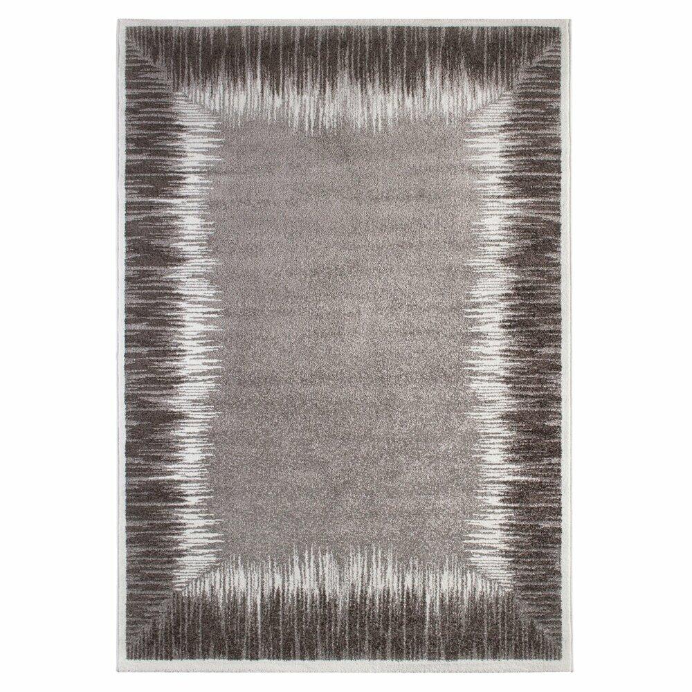 teppich grau 160x230 cm gemusterte teppiche teppiche l ufer deko haushalt roller. Black Bedroom Furniture Sets. Home Design Ideas