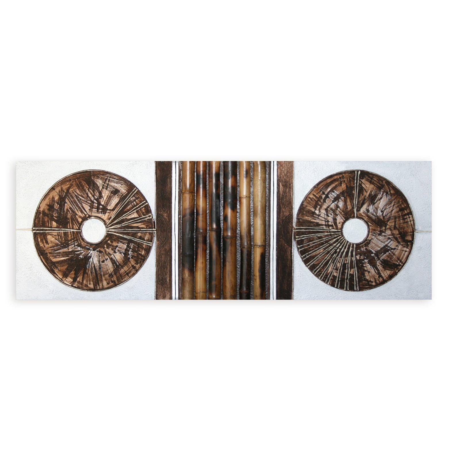 lgem lde braun wei bambusmotiv 50x150 cm bilder. Black Bedroom Furniture Sets. Home Design Ideas