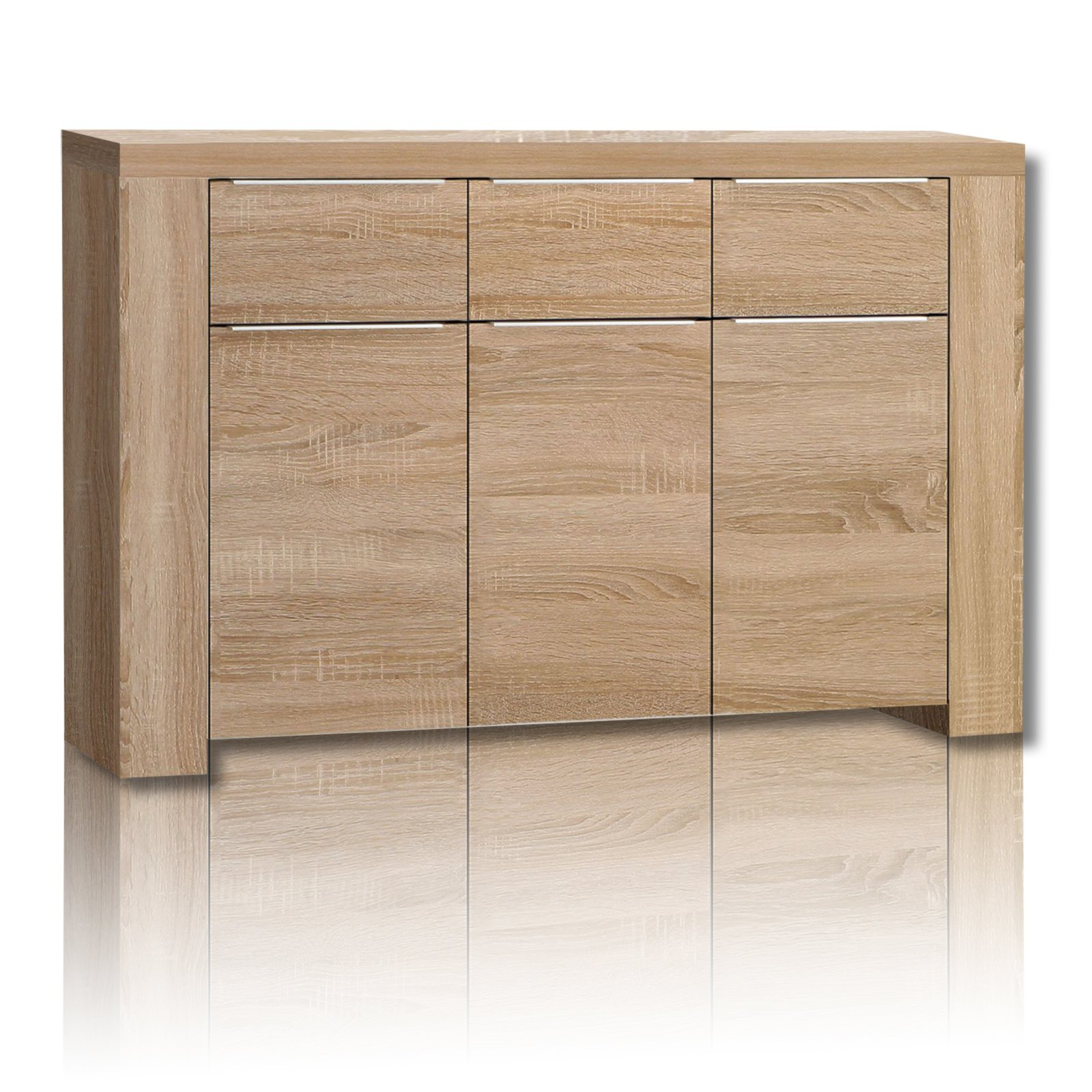kommode calpe sonoma eiche 144 cm kommoden sideboards m bel roller m belhaus. Black Bedroom Furniture Sets. Home Design Ideas